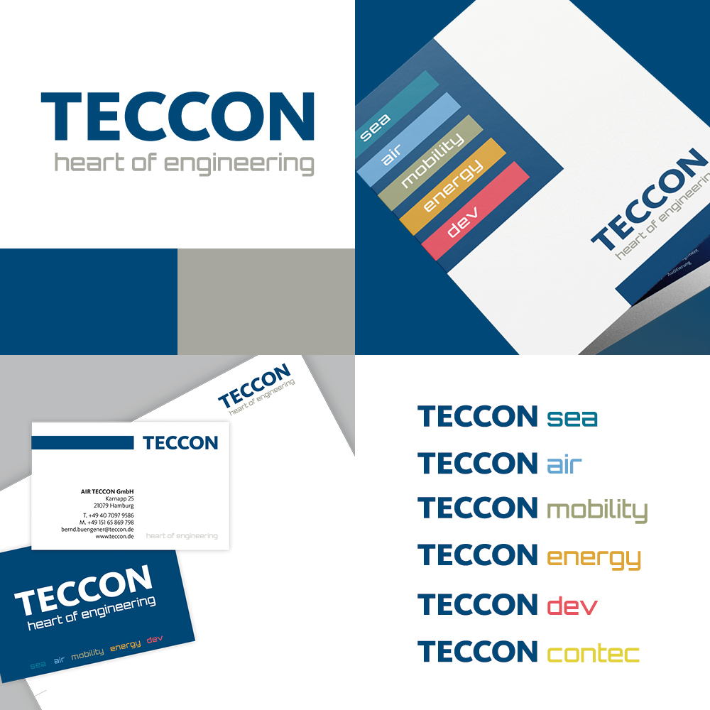 Teccon GmbH I Referenz I Corporate Design