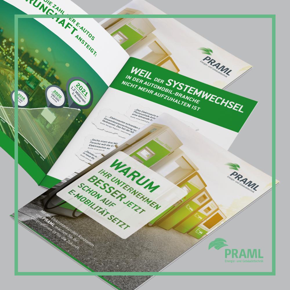 Praml GmbH I Referenz I E-Tankstellen Folder