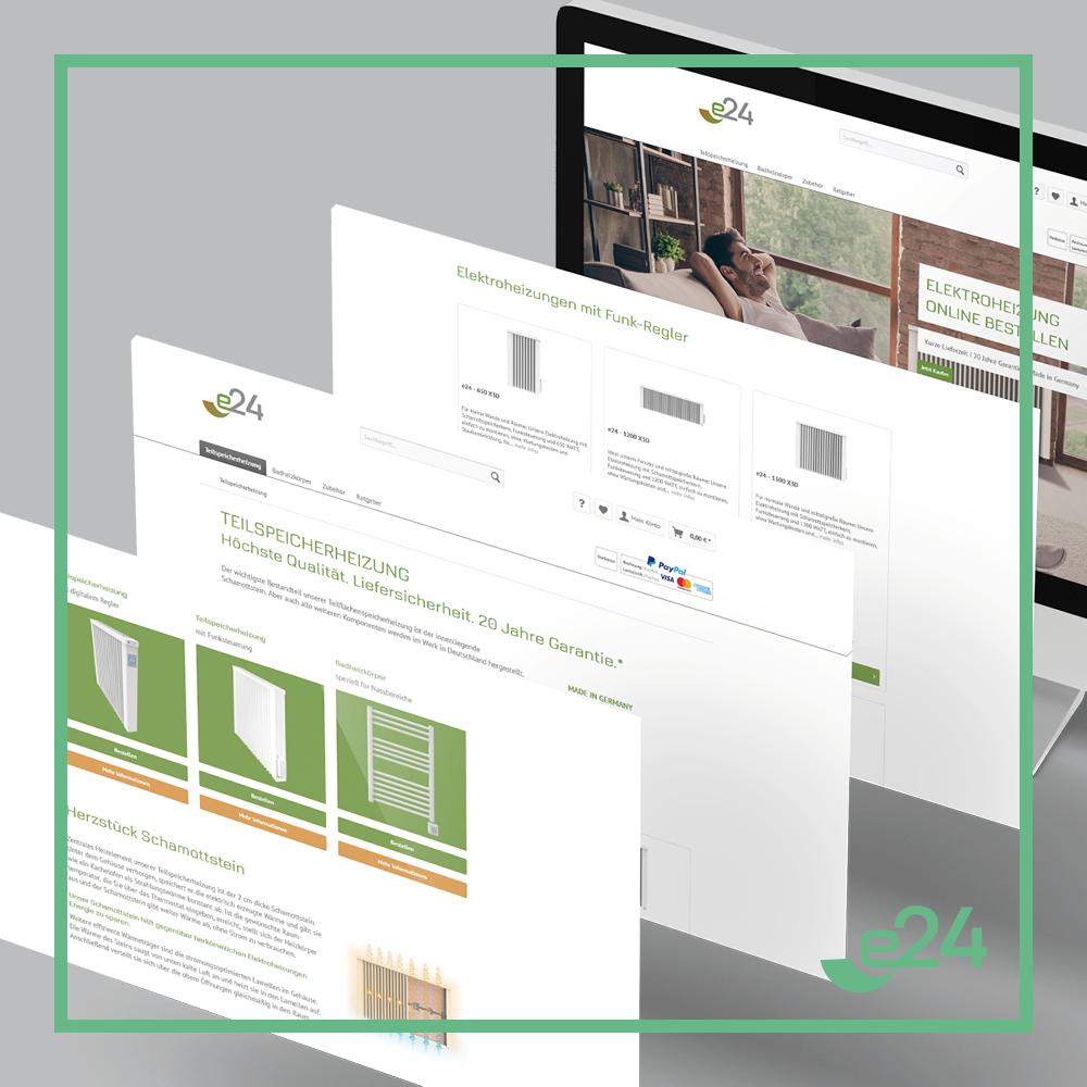 e24 I Referenz I Webseite I Onlineshop